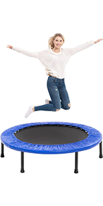 38 inches Blue 4-way Foldable Mini Trampoline