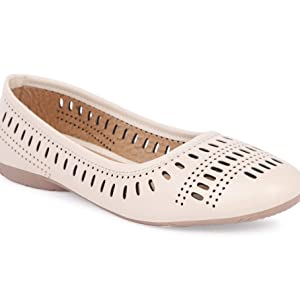 Women's Cream Color Belly Shoes