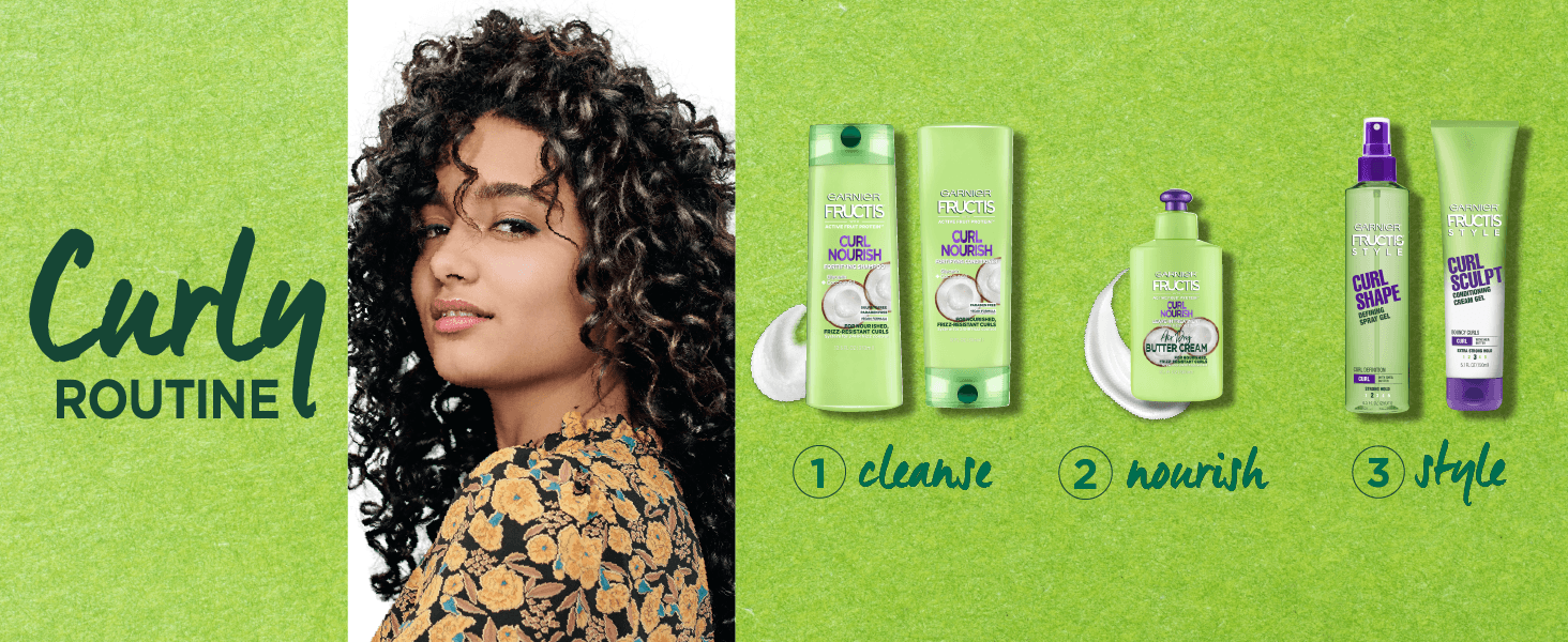 curly routine - 1. cleanse 2. nourish 3. style