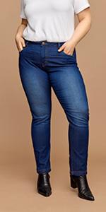 EMILY jeans grosse grössen zizzi 56 lange slim fit damen hoher bund