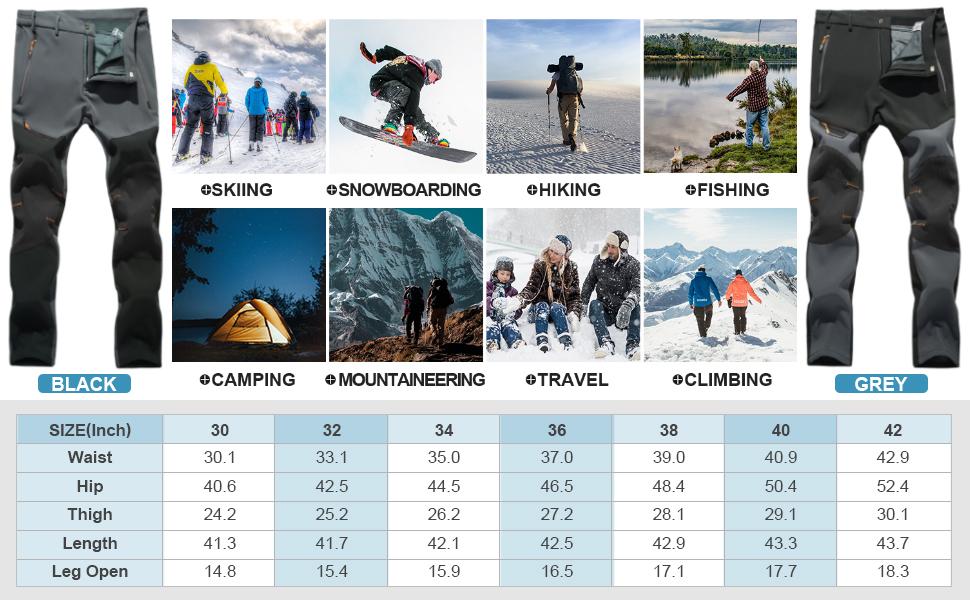 summitskin bombshell pants mens lined slim cargo water resistant Mountain skiing Hiking Travel
