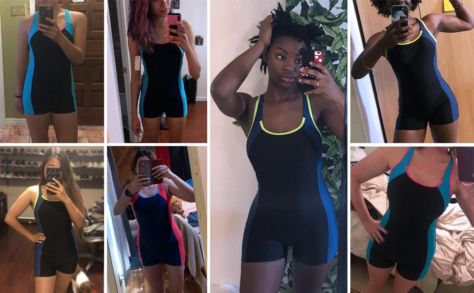 women one piece swimming suit boyleg bathing suits
