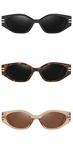 rectangle small sunglasses for women vintage retro