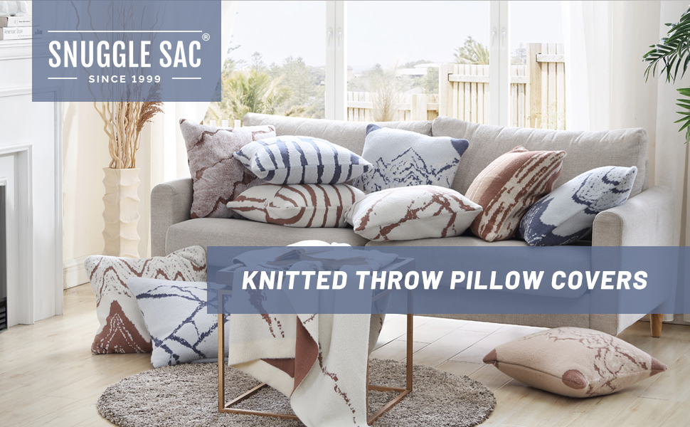 Snuggle Sac Knitted Throw Pillow Covers