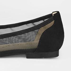 Allegra K Women's Pointed Toe Slip On Mesh Flats