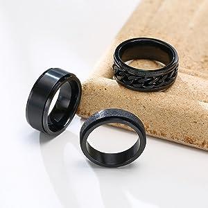 Fidget Spinner Rings Set