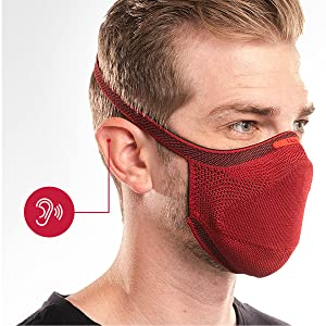 Comfort-fit design is kind to your ears, sets your lungs free, and never gets in the way