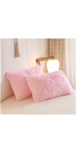 Fluffy faux fur pillowcase