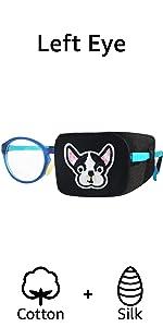 left eye patch kids eyeglasses patch silk dog