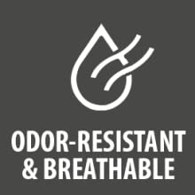 Odor-Resistant & Breathable