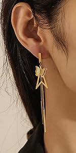 Fashion Butterfly Geometric Eardrop for Women