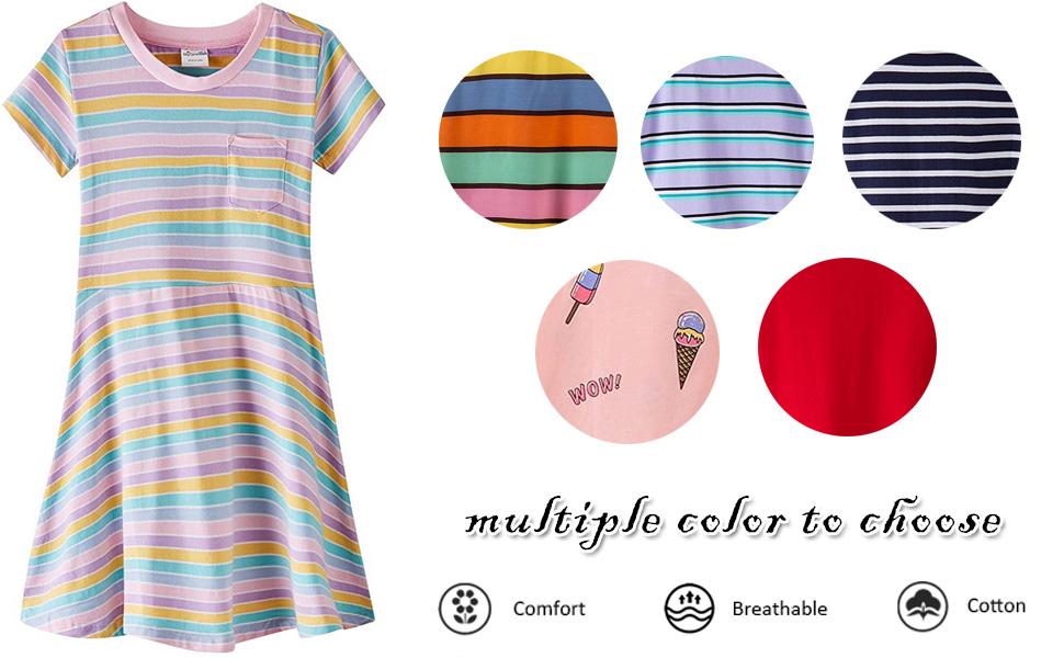 girls summer knit short-sleeve dress