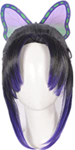 Shinobu Cosplay Wig with Butterfly Clip