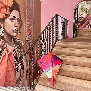 Image of Tie-Dye Diamond Kite with Oaxaca Wallpaper