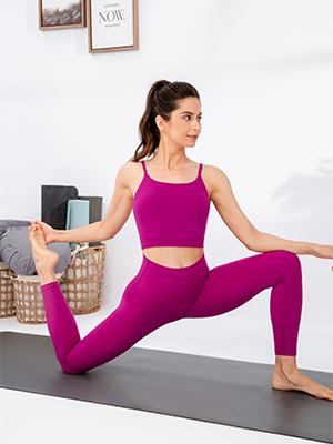 Lavento Womens Naked Feeling Light Yoga Leggings 7/8 Length