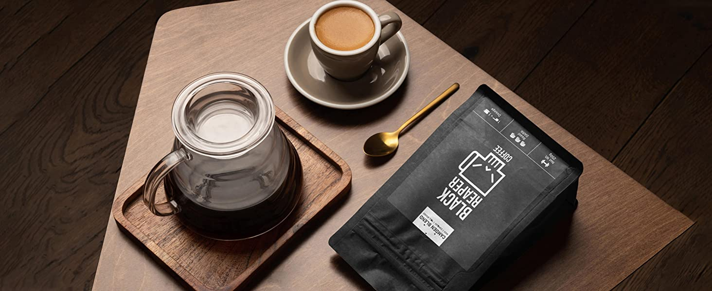 Black coffee setup