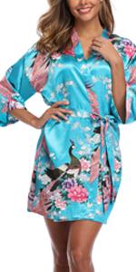 womens peacock robe