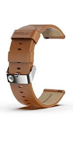 Cognac Leather Band with Steel Gray Buckle