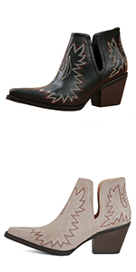 women square toe cowgirl short boots