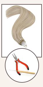 micro loop hair extensions human hair ring hair extensions