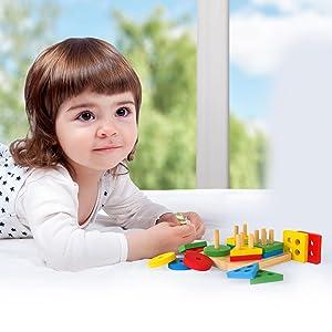 stacking toys, montessori stacking toy, wooden stacking toys, lovevery toys, sorting toys,