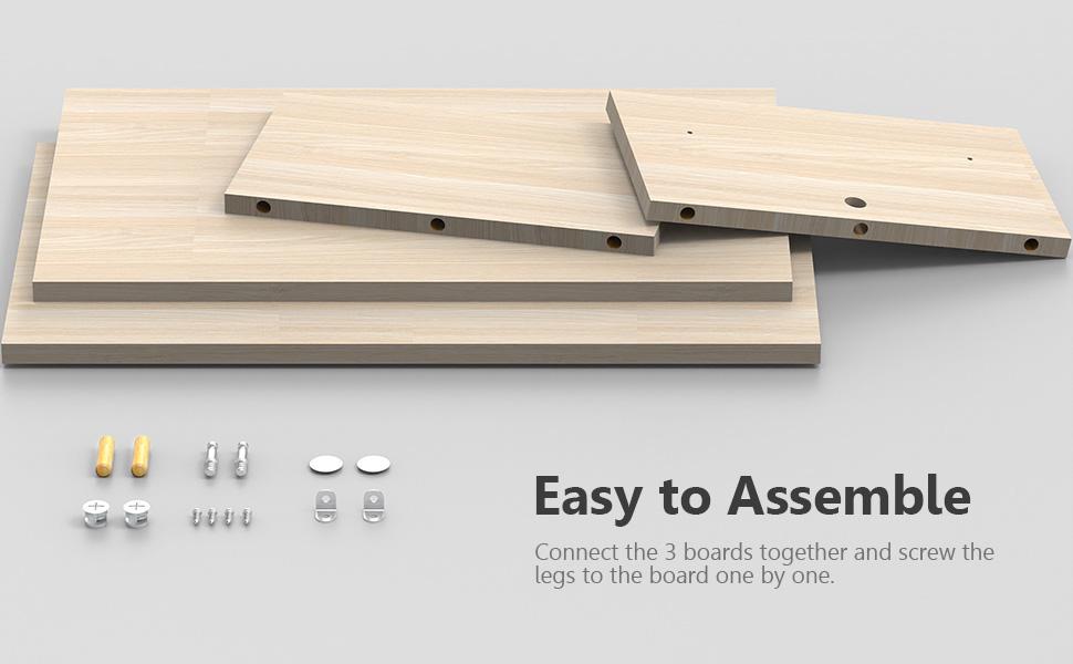 2-Tier Desk Monitor Riser Stand Desk Storage Organizer Home Office Laptop Desk
