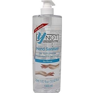 YNOT Alcohol Based Hand Sanitizer Pump Bottle 1Liter