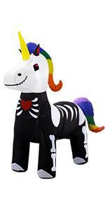 5ft halloween inflatable skeleton unicorn