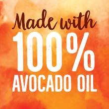 made with 100% avocado oil