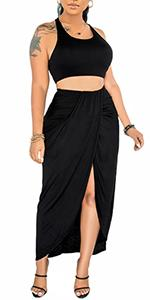2 Piece Midi Dress