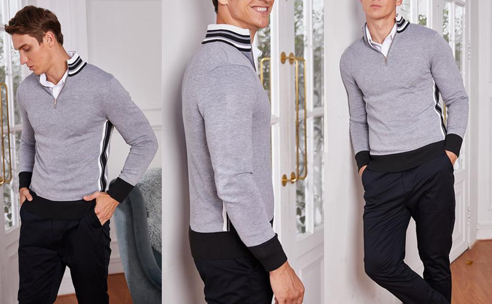1/4 zip pullover sweater