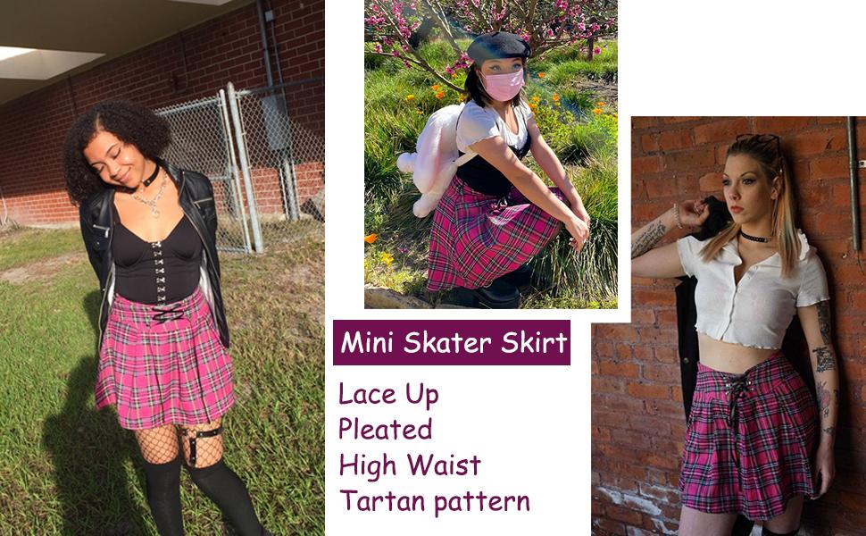 women mini skater skirt