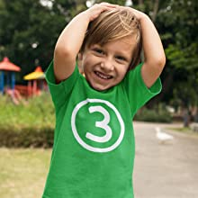 Happy Family Clothing Circle Three 3rd Third Birthday T-Shirt