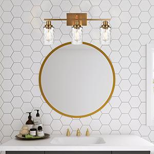 3-light vanity lighting fixtures
