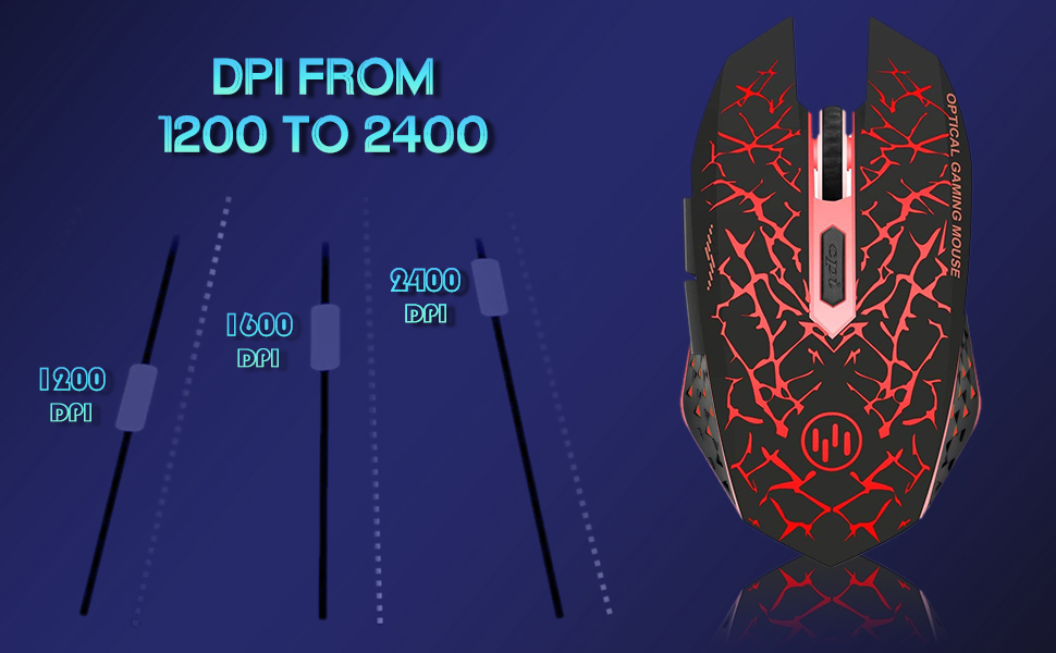 Wireless gaming mouse DPI details