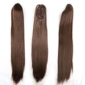 straight soft long ponytail