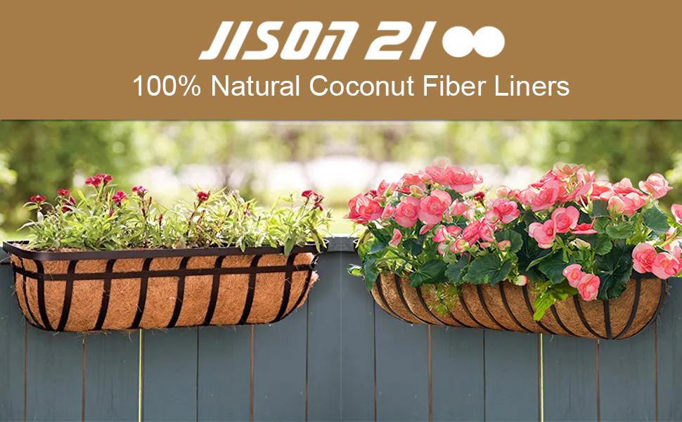 natural coconut fiber liners