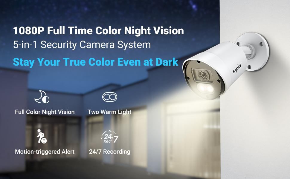 1080p full time color night vision