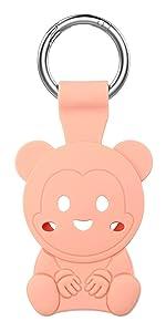 Bear Shape AirTag Case, Cute Keychain Silicone Cover