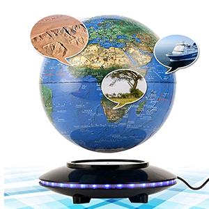 Magnetic Levitation Rotating World Map for Children Gift Home Office