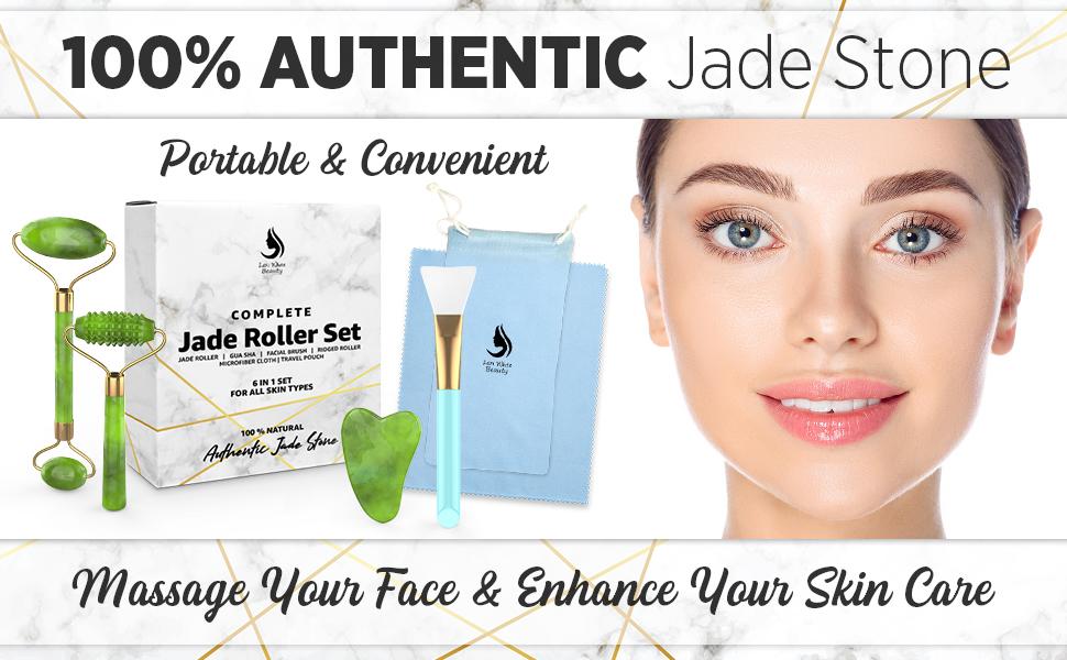 Jade Roller For Face Gua Sha Set
