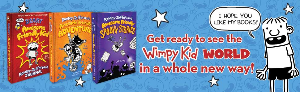 Image of Rowley Jefferson books. Get ready to see the Wimpy Kid world in a whole new way!
