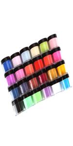 24 Colors Acrylic Nail Art Tips UV Gel Powder