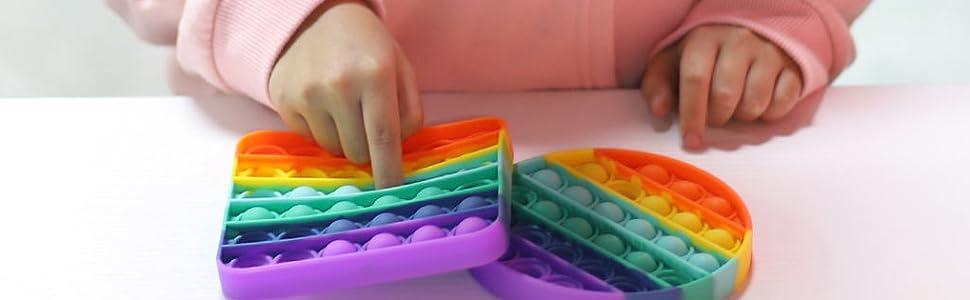 wqfxyz push pop bubble fidget sensory toy, 3pcs push pop bubble fidget sensory toy, POPIT, TIE DYE