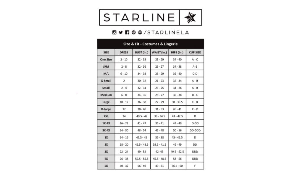 Starline Costumes, Lingerie, Plus Size Costumes, Sexy Costumes