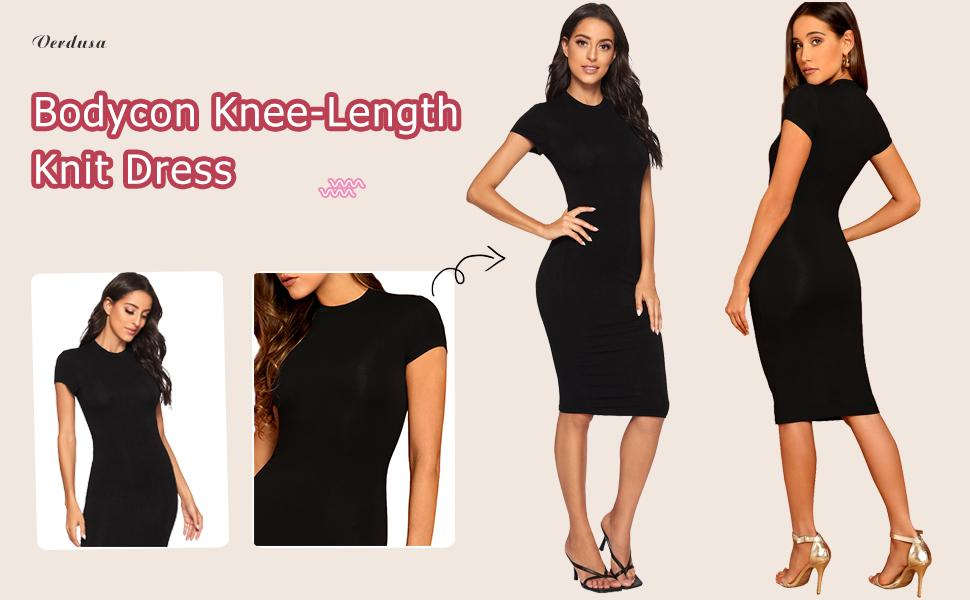Bodycon Knee-Length Dress