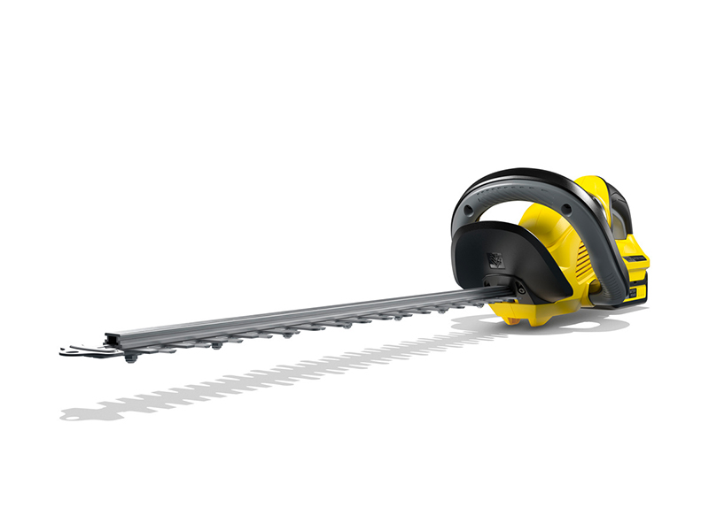 Kärcher 18 V Cordless Hedge Trimmer HGE 18-50 Battery Set, Include 18 V/2.5Ah Battery & Fast Charger, Cutting Length: 50 cm, Diamond-ground Blade, Rotating Handle, Clippings Sweeper, Power: 325 m : Amazon.co.uk: