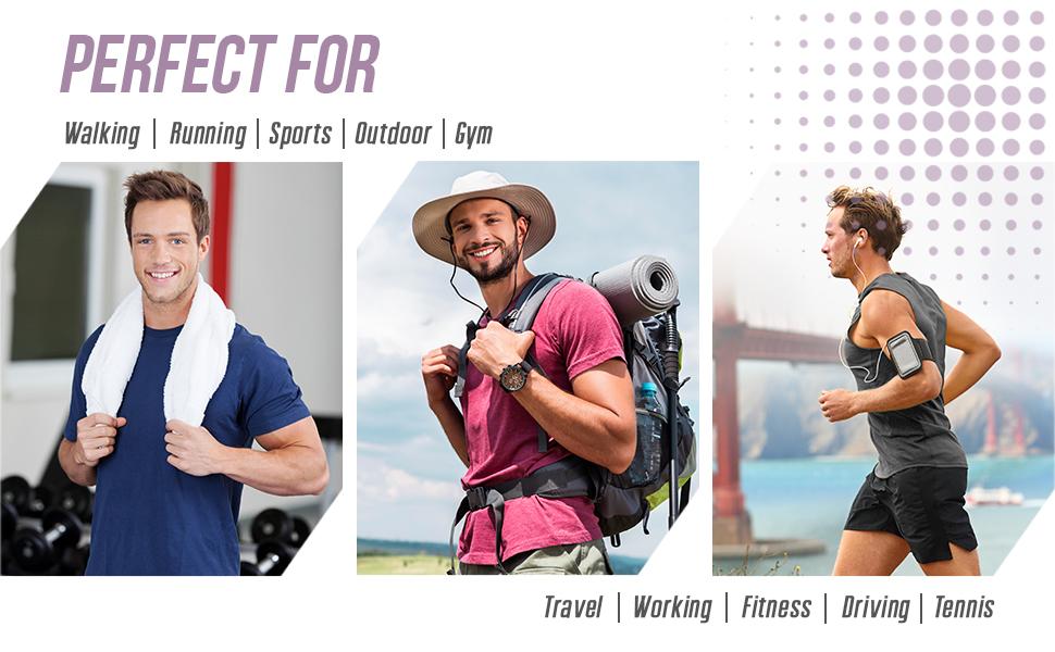 Brolk Mens Walking Running Lightweight Comfortable Ultra-Breathable  Anti-Slip Sole Shoes for Men