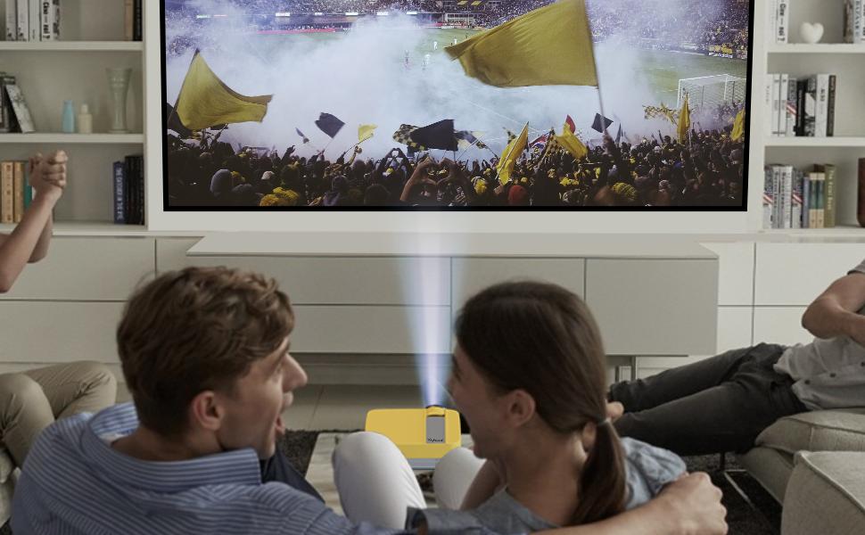 Tragbarer Multimedia-Projektor für Heimkino