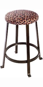 bar  stool, chiar, bar set, kitchen set, kitchen stool, counter stool, metal stool, cow print chair,